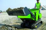 Dumper with self-loading loader
